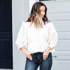 Love Sam Lucy in the Sky Long Sleeve top in Ivory
